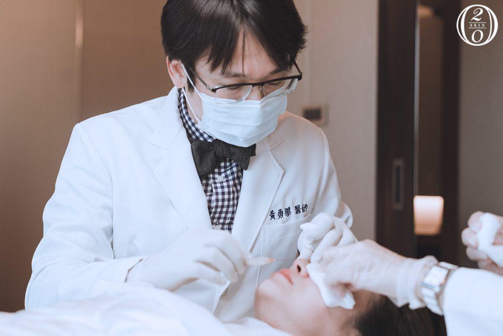 台中舒妍萃晶亮瓷玻尿酸注射(童妍針注射),黃勇學皮膚科醫師。