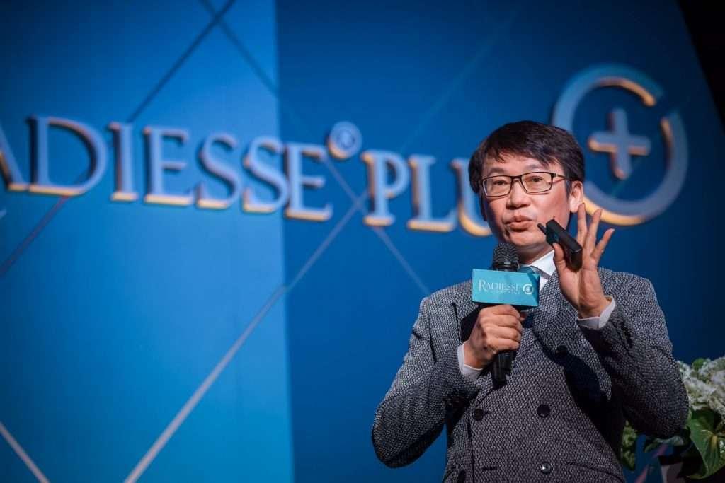 2021黃勇學醫師參加晶亮瓷Reddiesse Plus上市發表會,進行公開演說。
