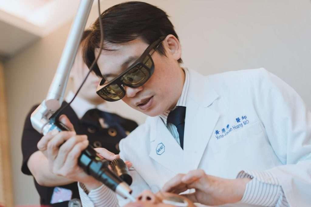 黃勇學醫師更研究出特殊的高聚焦打法