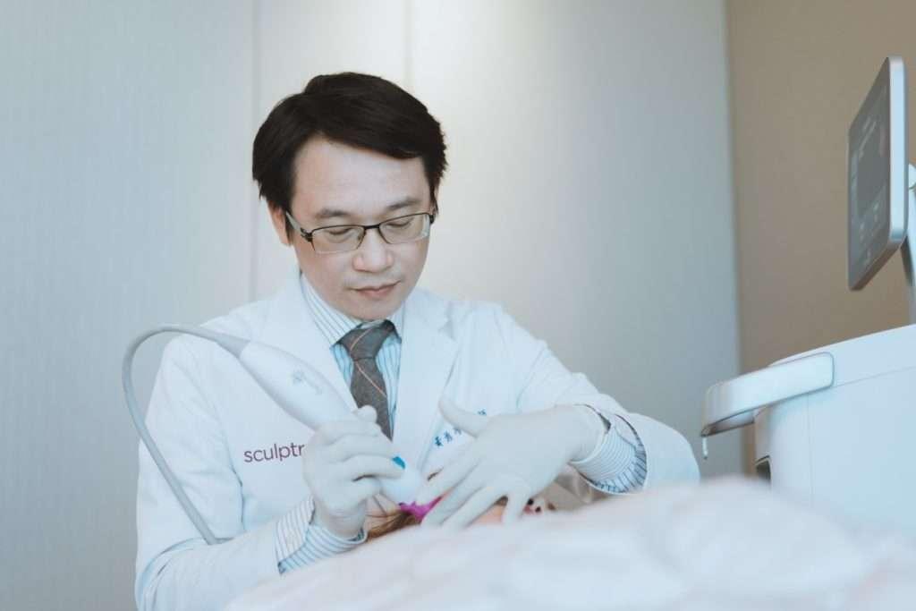 20skin黃勇學醫師使用鳳凰電波(電波拉皮)針對下顎線輪廓拉提